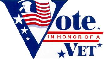 Vote in Honor of a Veteran Logo Florida